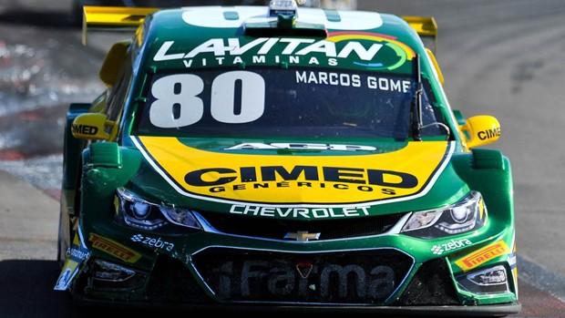 Marcos Gomes completou o pódio (Foto: Divulgação/Vicar)