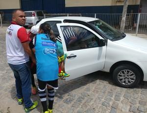 zagueira Marcela, do Flamengo-PB (Foto: Larissa Keren / GloboEsporte.com/pb)