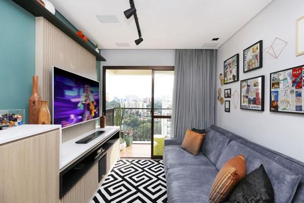 Charme e conforto em apartamento de 57 m casa vogue for Modelo de departamento pequeno