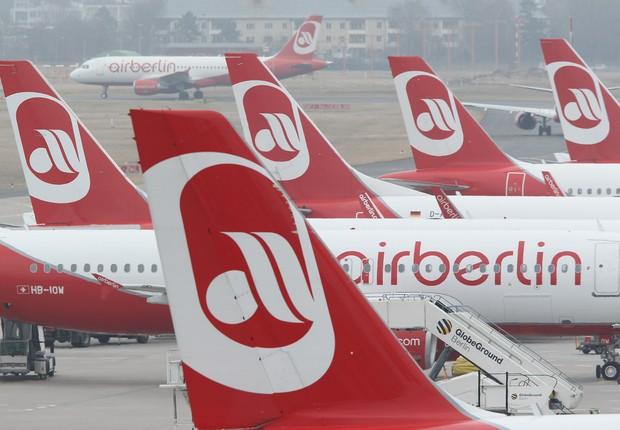 Aeronaves da Air Berlin (Foto: Sean Gallup/Getty Images)