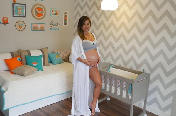 Aryane Steinkopf mostra o quarto do filho Aarão (Foto: Divulgação)