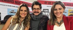 Jessica Leão marcou presença no lançamento do filme 'Um namorado para minha mulher' (Reprodução / TV Diário )
