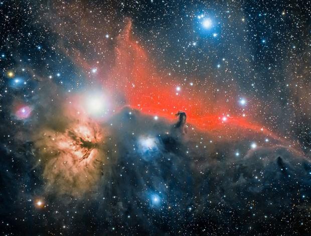 A imagem da Nebulosa Cabeça de Cavalo foi enviada por José Jiménez Priego de La Jonquera, Espanha (Foto: José Jiménez Priego/Observatório Real de Greewich)