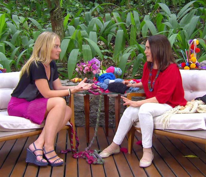 Regina recebeu mensagem da filha Gabriela Duarte (Foto: TV Globo)