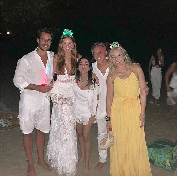Xande Negrão, Marina Ruy Barbosa, Tatá Werneck, Angélica e Luciano Huck (Foto: Instagram/Reprodução)