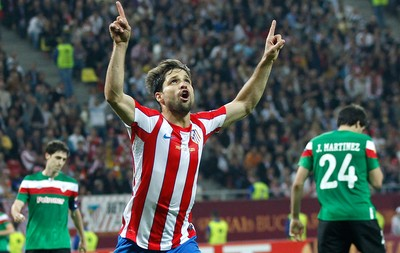 Diego, Atlético de Madrid x Athletic Bilbao (Foto: Reuters)