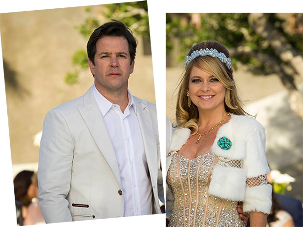 Jonas Marra e Pamela Parker na renovação de votos dos 20 anos de casamento, no início do ano (Foto: Parker TV)