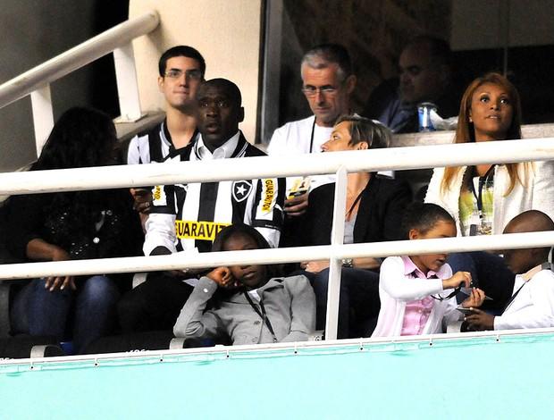 seedorf botafogo camarote engenhão (Foto: André Durão / Globoesporte.com)