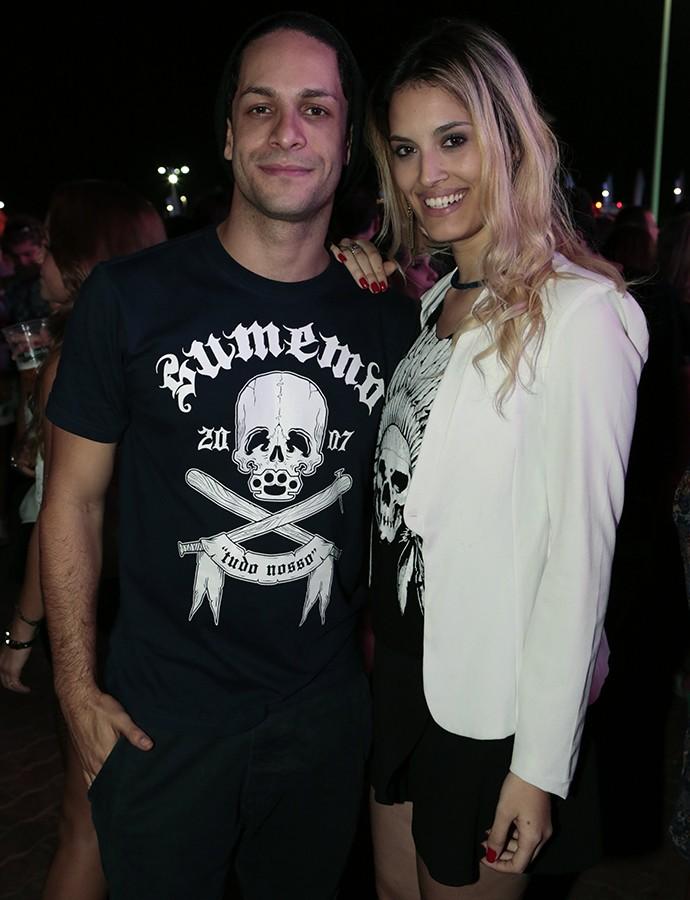 Rainer Cadete e a namorada Taianne Raveli (Foto: Felipe Monteiro/Gshow)