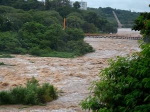 Nível do Rio Piracicaba subiu 72% em um dia (Foto: Claudia Assencio/G1)