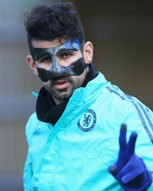 Diego Costa em treino do Chelsea (Foto: Harry Engels/Getty Images)