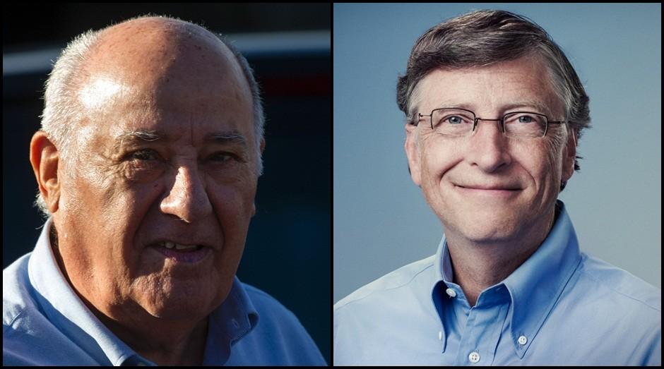 Amancio Ortega e Bill Gates: ambos têm fortunas de quase US$ 80 bilhões  (Foto: Reprodução)