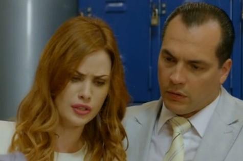 Daniel Boaventura e Mayana Moura em cena de 'Guerra dos sexos' (Foto: Reprodução)