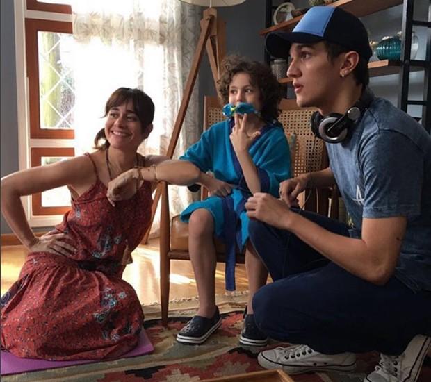 Alessandra Negrini, Cauã Gonçalves e Christian Figueiredo (Foto: Reprodução/Instagram)