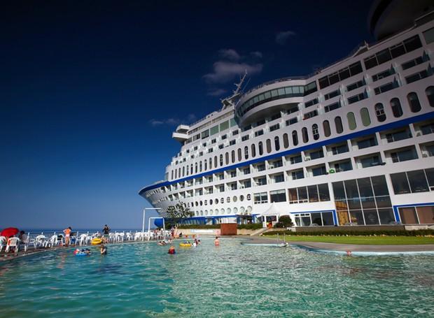 sun-cruise-resort-yatch-coreia-do-sul-hoteis-peculiares-mundo (Foto: Divulgação)