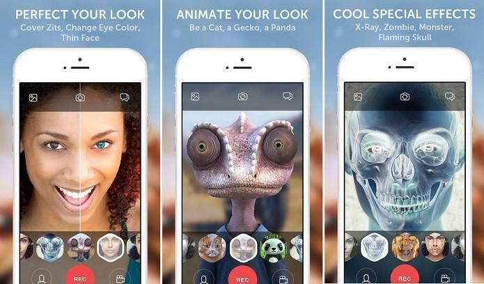 Looksery é um aplicativo de retoques e efeitos para fotos e vídeos (Foto: Divulgação)