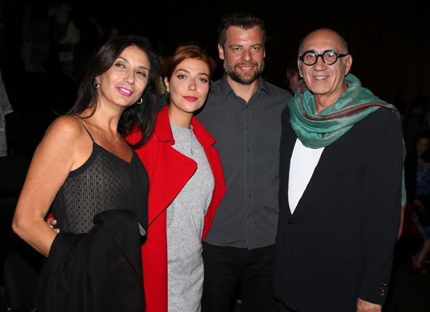 Zizi Possi, Luiza Possi, Cris Gomes e José Possi Neto (Foto: Thiago Duran/AgNews)