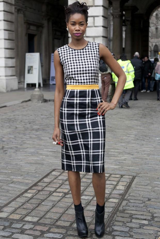Modelo na semana de moda de Londres (Foto: Getty Images)