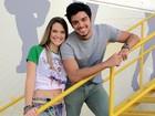 Rodrigo Simas e Ju Paiva comemoram namoro de Bruno e Fatinha!