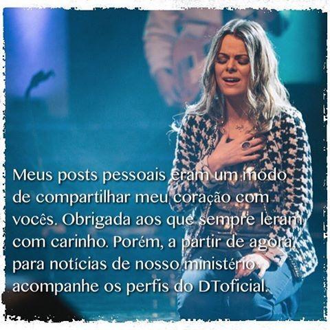 Ana Paula Valadão anuncia saída de rede sociais (Foto: Instagram / Reprodução)