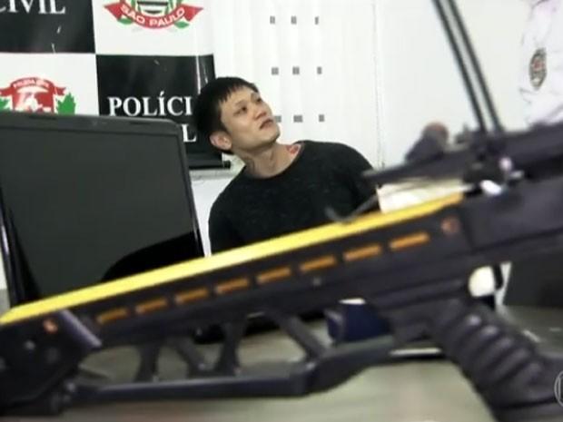 Denis Kim foi detido na quinta-feira (15) em São Paulo (Foto: Reprodução / TV Globo)