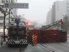 Tufão deixa desabrigados no sul do Japão