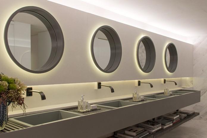 Banheiros do Museu da OCA poupam até 75% de água com peça redutoras em São Paulo