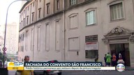 Fachada do Convento São Francisco segue pichada