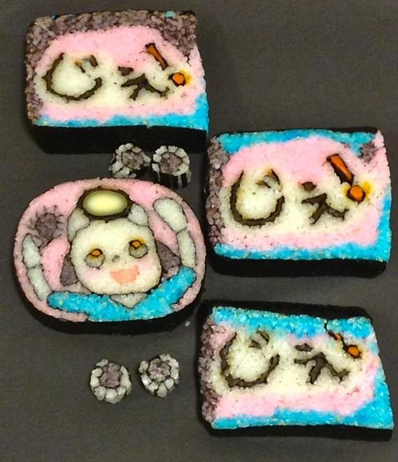 Arte makizushi usa ingredientes para ilustrar rolos de sushi (Foto: Reprodução)