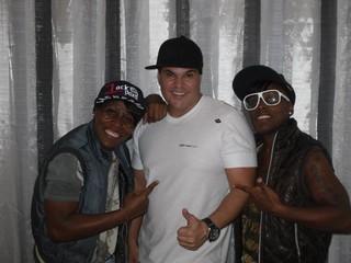 Dudu Ramos com Pepê e Nenem (Foto: Divulgação)