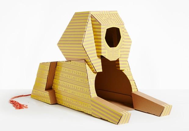 Casas para gatos imitam marcos arquitetônicos do mundo todo (Foto: Divulgação/Poopy Cat)