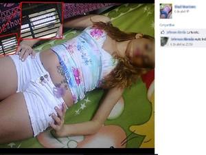 Detenta posta foto em página de rede social (Foto: Reprodução/Facebook)