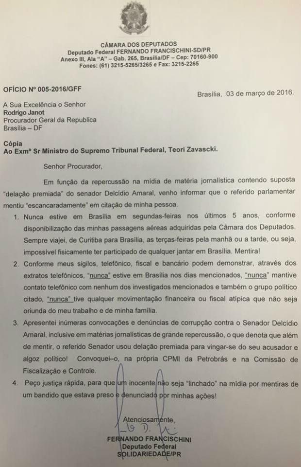 Deputado encaminhou explicações ao procurador-geral da República (Foto: Reprodução)