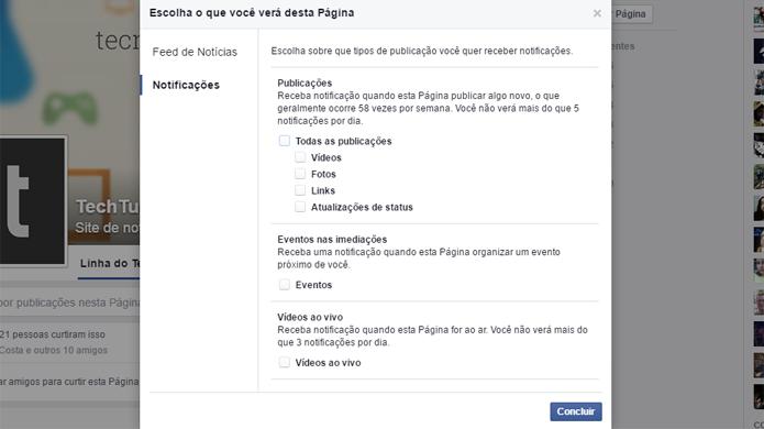Facebook permite notificações para eventos e vídeos ao vivo (Foto: Reprodução/Facebook)