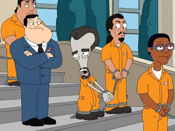 Stan condena Roger a dez anos de prisão (Foto: Divulgação / Twentieth Century Fox)