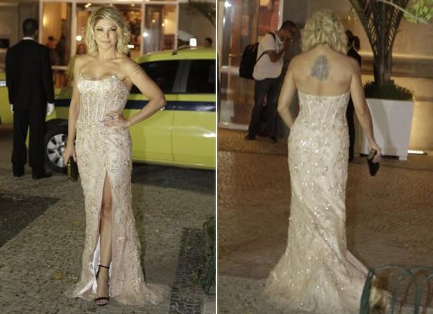 Antonia Fontenelle na festa de casamento de Latino (Foto: Isac Luz / EGO)