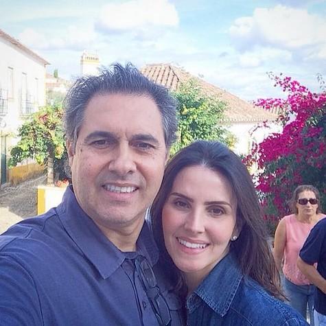 Lisandra e Gustavo na viagem que fizeram para Portugal (Foto: Reprodução)