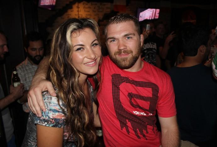 Miesha Tate e Bryan Caraway UFC MMA (Foto: Adriano Albuquerque)
