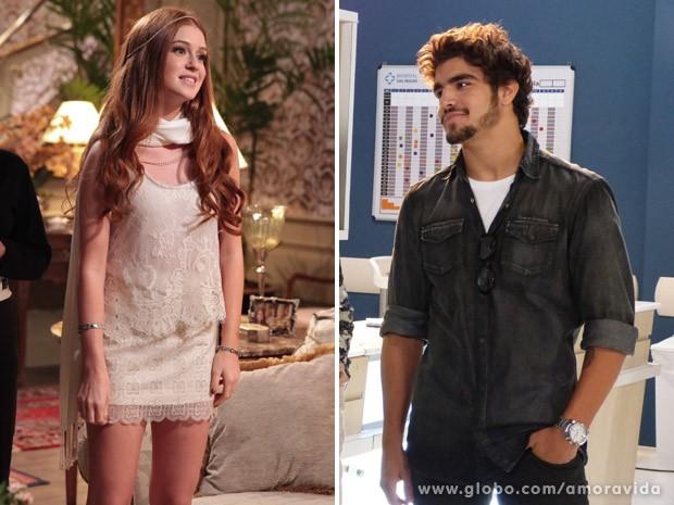 Marina Ruy Barbosa e Caio Castro são dois dos atores que entrarão na segunda fase. Ela será Nicole, e ele será Michel (Foto: Amor à Vida / TV Globo)