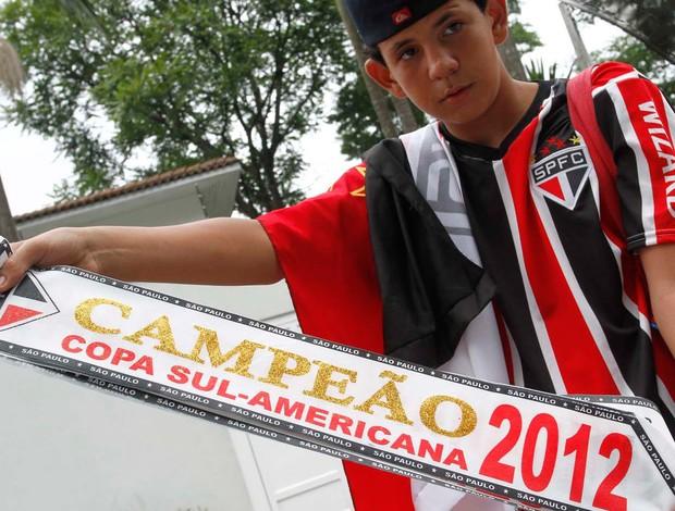 Faixa São Paulo Campeão Sul-Americana (Foto: Gustavo Tilio / Globoesporte.com)