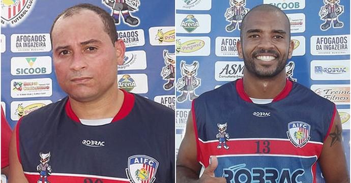 Atacante Carlinhos e lateral direito Thyego Manuel, contratações do Afogados (Foto: Divulgação / Afogados)