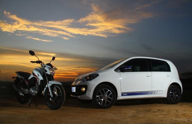 Quem bebe menos? Volkswagen up! TSI x Honda CG Titan 160 (Foto: Mario Villaescusa / Autoesporte)