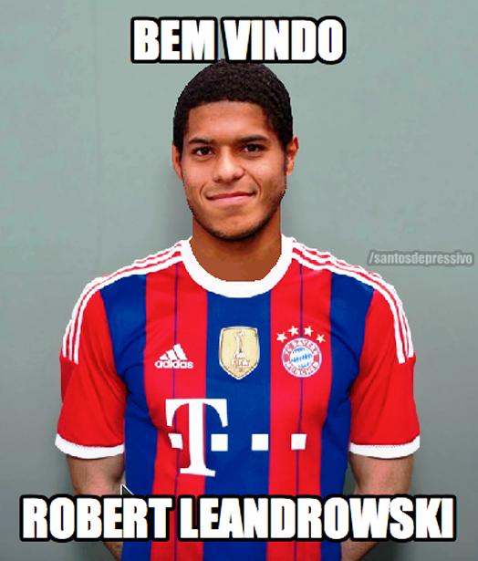 """BLOG: Recém-contratado pelo Peixe, Leandro é comparado a atacante do Bayern: """"Leandrowski"""""""