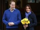 Grávida, Kate Middleton deixa o hospital