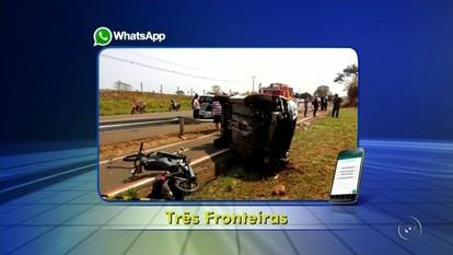 Jovem morre em acidente entre moto e carro na estrada de Santa Fé do Sul