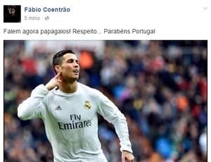 """BLOG: Após vaga, Coentrão defende CR7 em rede social: """"Falem agora, papagaios!"""""""