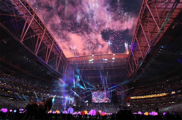 Intervalo do Super Bowl 2015 teve shows de Katy Perry, Lenny Kravitz e Missy Elliott (Foto: Perry Knots / NFL)