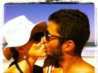 Luana Piovani vai à praia com o marido no Rio: 'Pense em alguém feliz'