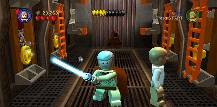 Lego Star Wars The Complete Saga reúne seis filmes em um jogo (Foto: Divulgação)