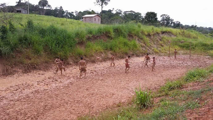 VC no Esporte Futebol na estrada BR 364 (Foto: Thiago Higino/Arquivo pessoal)